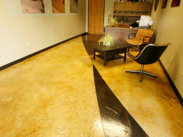 Hand Textured Stained & Sealed Floor