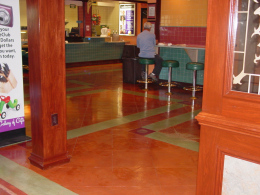 Stained & Sealed Floor with Accents