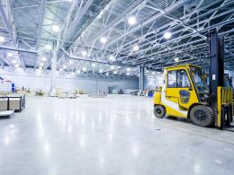 Solid color Epoxy Warehouse Floor