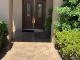 Stained Concrete Entry