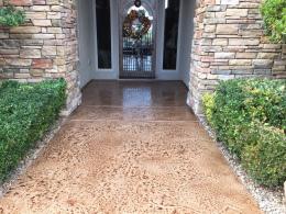 Old Granite Stamped Entryway