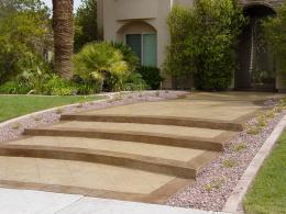 Old Granite Stamped Walkway