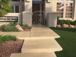 Stamped Concrete Walkway-2