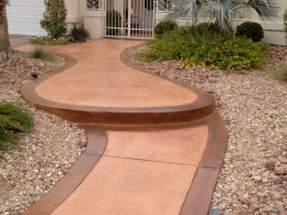 Stamped Concrete Walkway 3