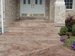 Wide Cut Flagstone Entry
