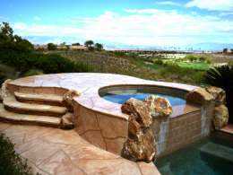Wide Cut Flagstone Spa