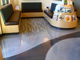 Metallic Epoxy Lobby