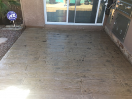 Faux Plank Stamped Concrete