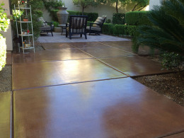 Stained Concrete Patio 2