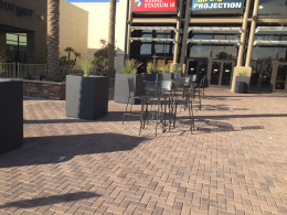 Commercial Patio with Sealed Pavers