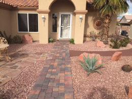 Walkway with Sealed Pavers