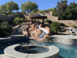 Textured Spa & Pool Deck