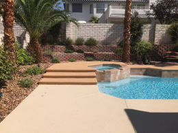Textured Pool Deck with Accent 2