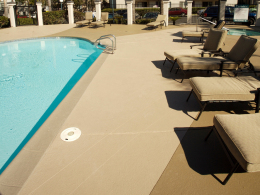 Pool Deck with Accent Color