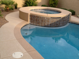 Textured Pool Deck with Border
