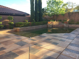Random Stone Textured Pool Deck