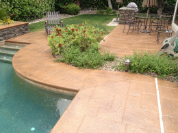 Stamped Concrete Pool Deck 3
