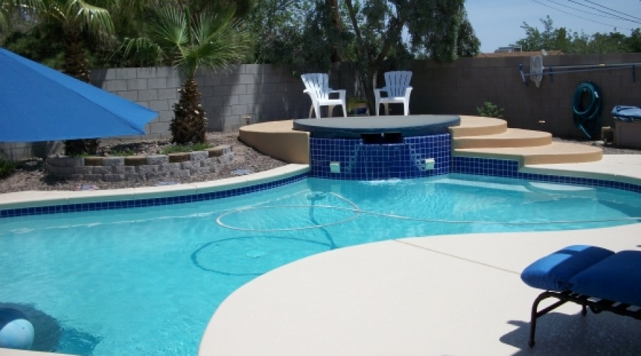 Pool Decks with Accent Colors