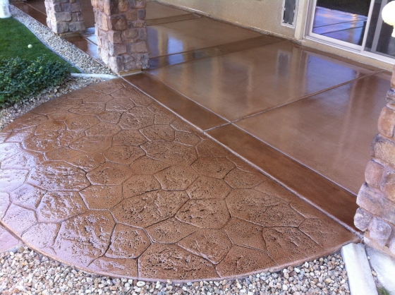 Las Vegas Stamped Concrete Back Patio