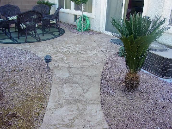 Seamless Stamped Concrete. Patio Stone Pattren