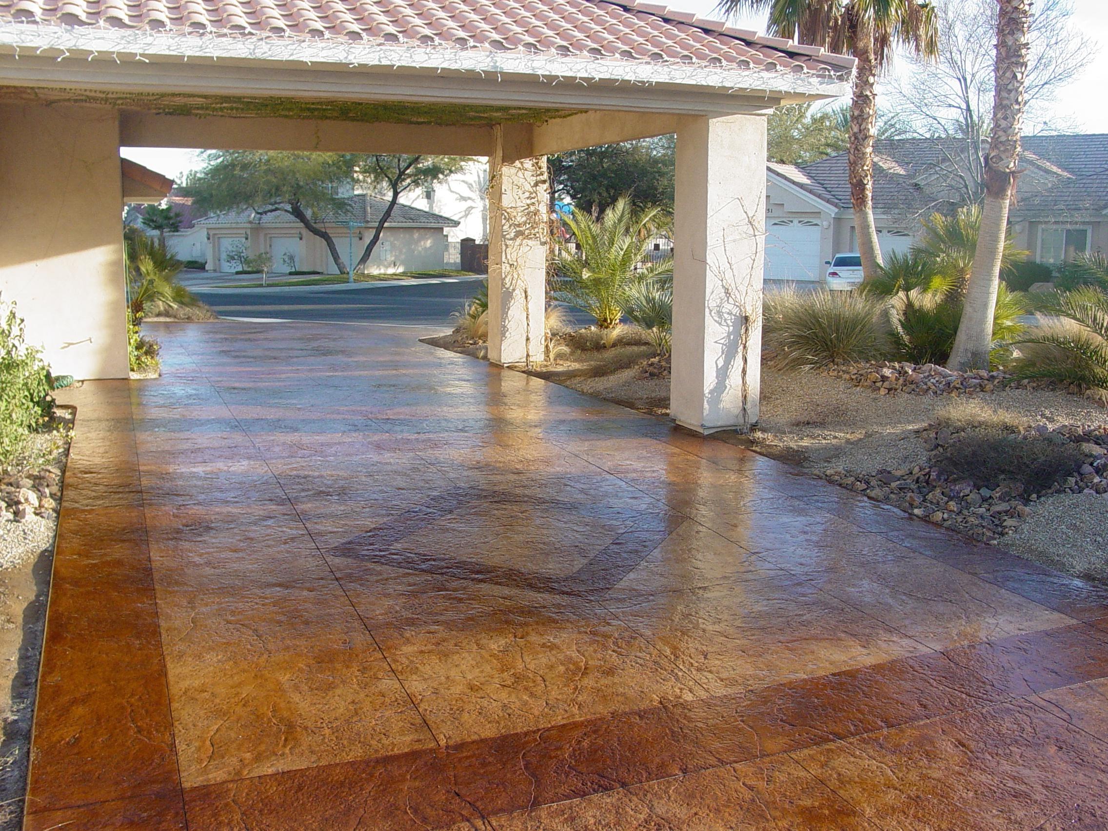 Stamped Concrete Home : Decorative concrete driveways texturingconcrete