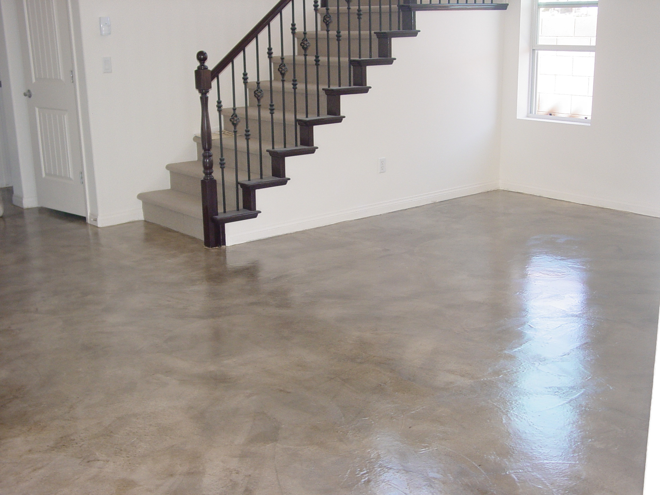 Interior residential concrete floors concrete for How to shine cement floor