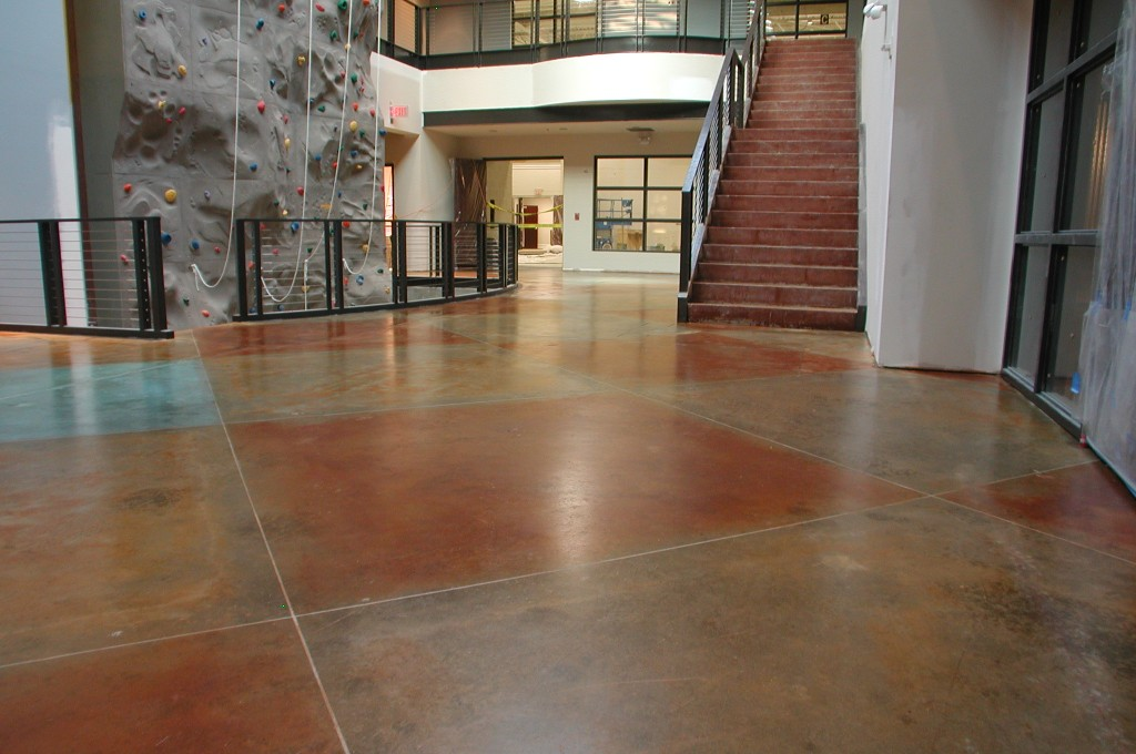 Colored Interior Concrete Floor : Interior floor concrete texturingconcrete texturing