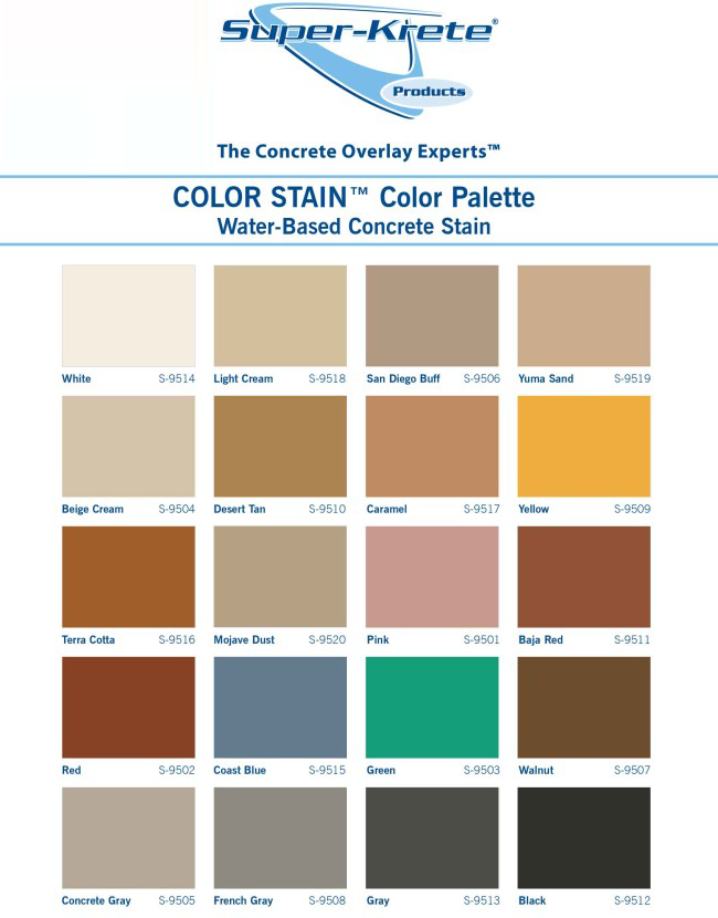 Epoxy Seal Color Chart Koskin